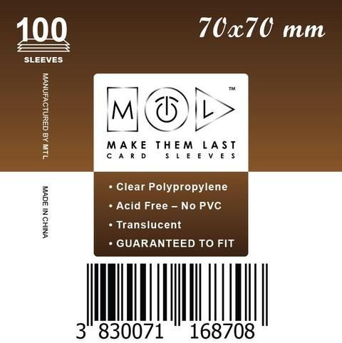 MTL 70x70 mm 100 db kártyavédő
