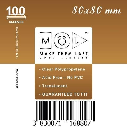 MTL 80x80 mm 100 db kártyavédő