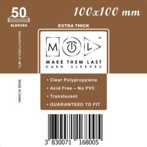 MTL 100x100 mm 50 db kártyavédő Prémium