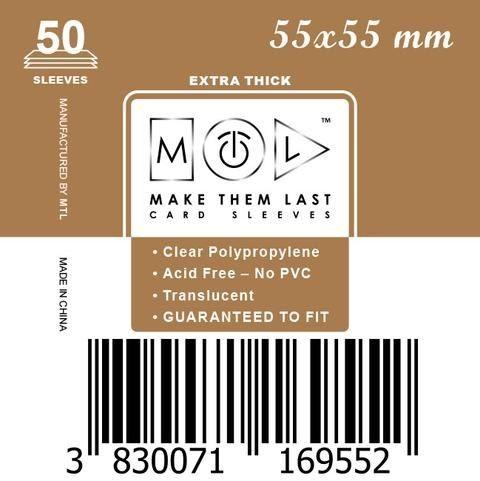 MTL 55x55 mm 50 db kártyavédő Prémium