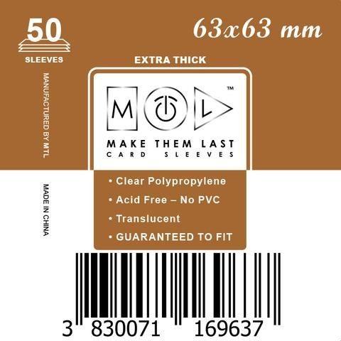 MTL 63x63 mm 50 db kártyavédő Prémium
