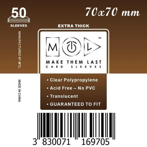 MTL 70x70 mm 50 db kártyavédő Prémium