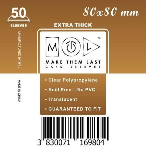 MTL 80x80 mm 50 db kártyavédő Prémium