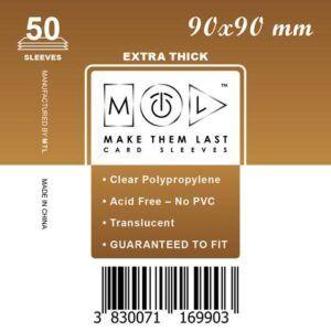 MTL 90x90 mm 50 db kártyavédő Prémium