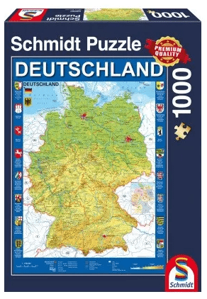 Schmidt Puzzle – Map of Germany, 1000 db
