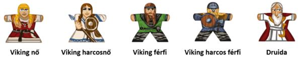 Népek matrica Vikingek