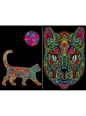 Colorvelvet gumis mappa Macska