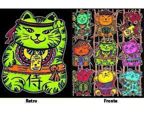 Colorvelvet gumis mappa Kínai szerencse cicák