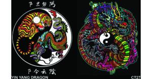Colorvelvet gumis mappa Tao sárkány