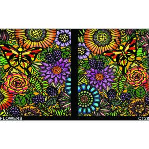 Colorvelvet gumis mappa Virágok