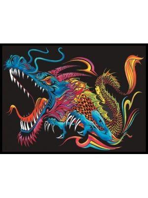 Colorvelvet Bársonykép 47x35 cm Sárkány