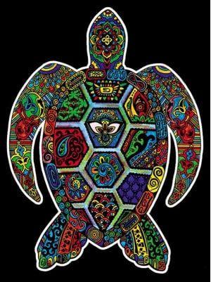 Colorvelvet Bársonykép 47x35 cm Teknős