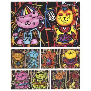 Colorvelvet doboz Kínai szerencse cicák
